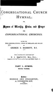 Cover of: Congregational Church Hymnal: Or, Hymns of Worship, Praise and Prayer for Congregational Churches |