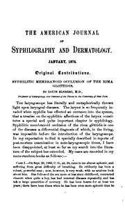 Cover of: American Journal of Syphilography and Dermatology ... |