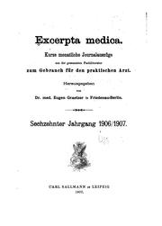Cover of: Excerpta Medica |