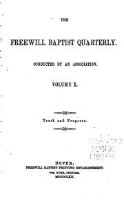 Cover of: The Freewill Baptist Quarterly |