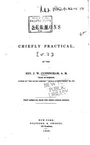 Cover of: Sermons Chiefly Practical | John William Cunningham