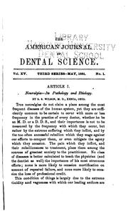 Cover of: American Journal of Dental Science |