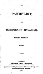Cover of: The Panoplist and Missionary Magazine, for the Year 1815 |