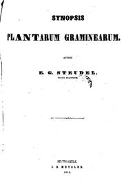 Cover of: Synopsis plantarum glumacearum