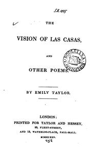 Cover of: The vision of Las Casas, and other poems | Emily Taylor