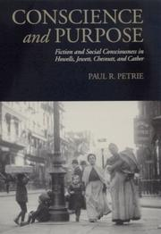 Cover of: Conscience and purpose | Paul R. Petrie