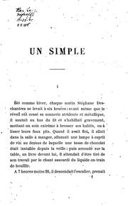 Cover of: Un simple