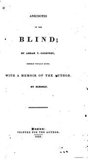 Cover of: Anecdotes of the Blind |
