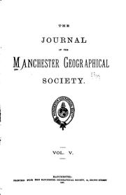 Cover of: The Journal of the Manchester Geographical Society |
