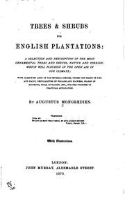 Cover of: Trees & Shrubs for English Plantations: A Selection and Description of the ..