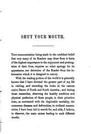 Cover of: Shut your mouth