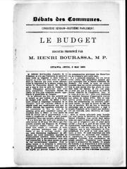 Cover of: Le budget