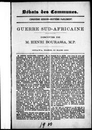 Cover of: Guerre sud-africaine
