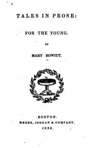 Cover of: Tales in Prose: For the Young / by Mary Howitt