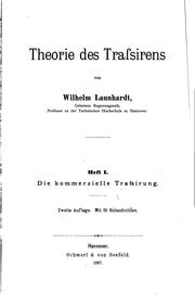 Cover of: Theorie des Trassirens