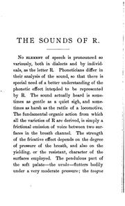Cover of: The sounds of R