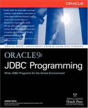 Cover of: Oracle9i JDBC programming | Jason Price