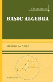 Cover of: Basic Algebra (Cornerstones)