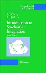 Cover of: Introduction to stochastic integration | Kai Lai Chung