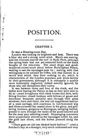 Cover of: Syrlin, Or, Position: Or, Position