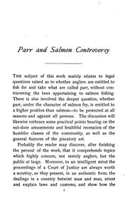 Cover of: The parr and salmon controversy |