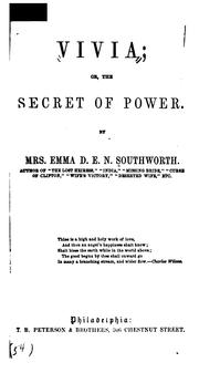 Cover of: Vivia; Or, The Secret of Power