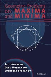 Cover of: Geometric Problems on Maxima and Minima