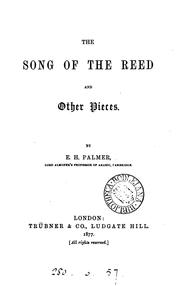 Cover of: The song of the reed, and other pieces