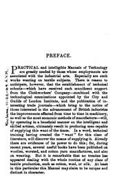 Cover of: Woollen and Worsted Cloth Manufacture: Being a Practical Treatise for the Use of All Persons ..