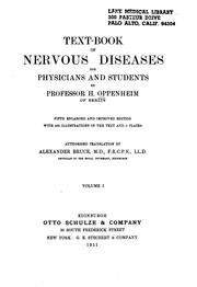 Cover of: Text-book of nervous diseases for physicians and students v. 2 | Hermann Oppenheim