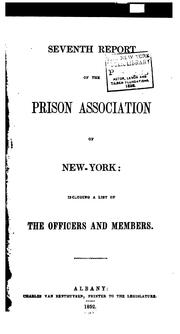 Report of the Prison Association of New York