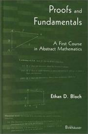 Cover of: Proofs and Fundamentals