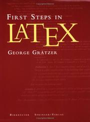 Cover of: First steps in LATEX