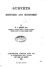Cover of: Surveys, Historic and Economic | William James Ashley