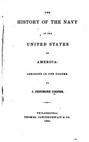 Cover of: The History of the Navy of the United States of America: Abridged in One Volume |