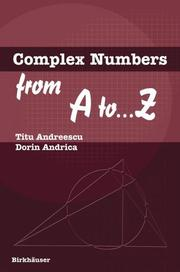 Cover of: Complex numbers from A to--Z