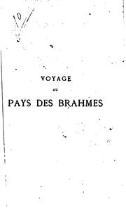 Cover of: Voyage au pays des Brahmes | Louis Jacolliot