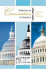 Cover of: Varieties Of Conservatism In America (Hoover Institution Press Publication)