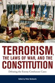 Cover of: Terrorism, The Laws Of War, And The Constitution