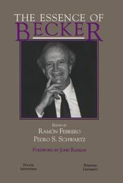 Cover of: The essence of Becker