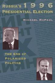 Cover of: Russia's 1996 presidential election