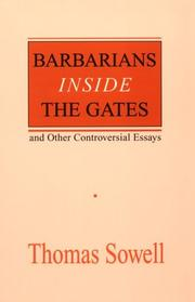 Cover of: Barbarians inside the gates--and other controversial essays