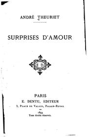 Cover of: Surprises d'amour