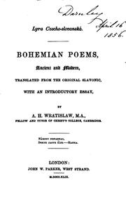 Cover of: Bohemian Poems, Ancient and Modern |