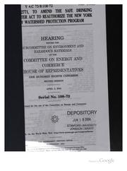 Cover of: H.R. 2771, to Amend the Safe Drinkling Water Act to Reauthorize the New York ... |