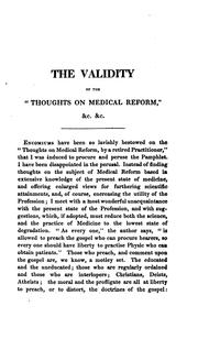Cover of: The validity of the