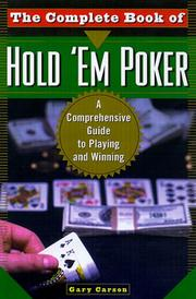 Cover of: The complete book of hold'em poker