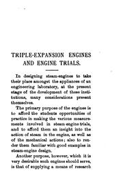 Cover of: Triple-expansion Engines and Engine-trials