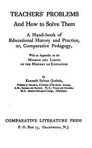 Cover of: Teachers