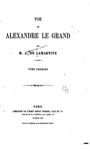 Cover of: Vie de Alexandre le Grand